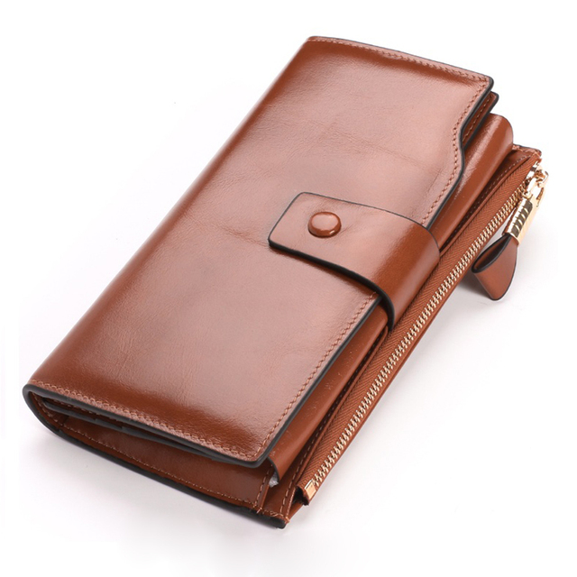 Women Female Genuine Leather Wallet Big Travel Zipper Women s Purse Ladies  Long Handbag Phone Bag Credit Card Holder Coin Purse e9dcfca14