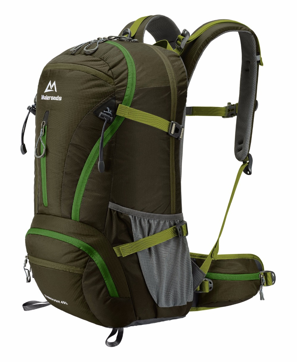 <font><b>Maleroads</b></font> Nylon Waterproof Dry Bag Outdoor Assault Rucksack Travel Backpack Men Women Camping Mountaineering Hiking Backpack <font><b>40L</b></font> image