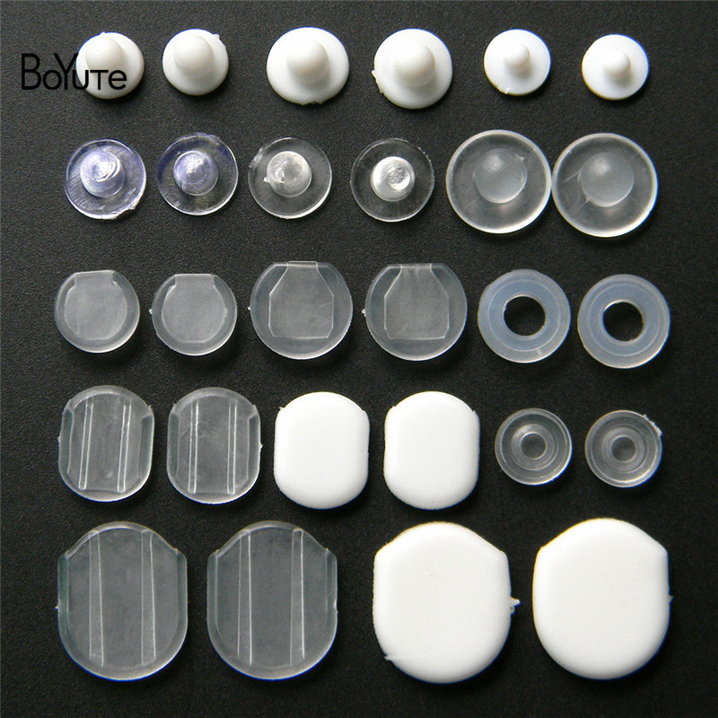 BoYuTe Wholesale White Transparent Soft Silicone Anti-Pain Ear Clip Pad Earrings Accessories DIY Jewelry Findings Components (5)