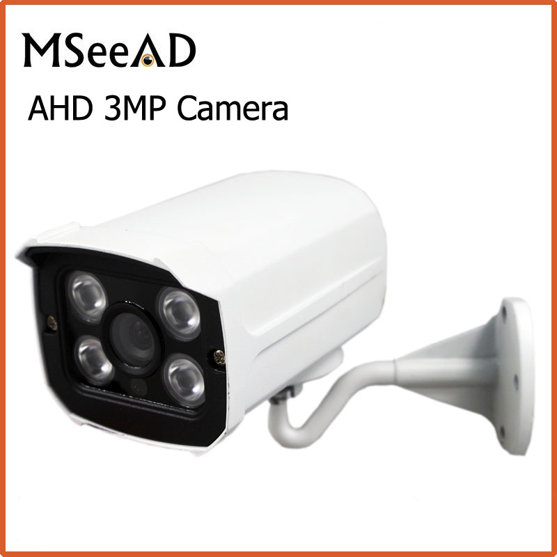 4MP CCTV Camera Array 4pcs Leds HD AHD Camera IR-CUT Waterproof White Metal Bullet Video Surveillance cctv camera 960p 1 3mp outdoor waterproof bullet video camera 4 in 1tvi ahd cvi cvbs with 42 pcs ir led 40m ir range ahd camera