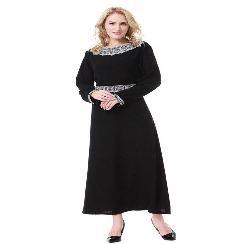 Muslim Wanita Islam Abaya Arab Lengan Panjang Kaftan Timur Tengah Dubai Arab  Saudi Gamis Maxi Pakaian Gaun Hijab Gaun baru di Pakaian Islamic dari  Novelty ... f37014a9a0