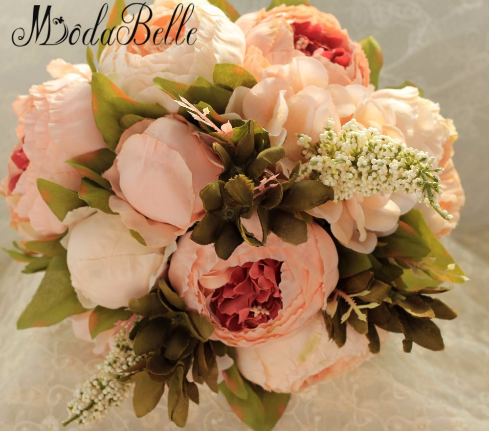 2016 New Bridal Bouquet Wedding Artificial Flowers For Bridesmaids Pink Cheap Gros Bouquets De Mariage In From Weddings Events On