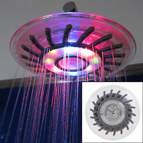 IMC Hot High Quality TIMETOP Romantic 4 Mixed-color LED Shower Head Bathroom Sprinkler Free Shipping