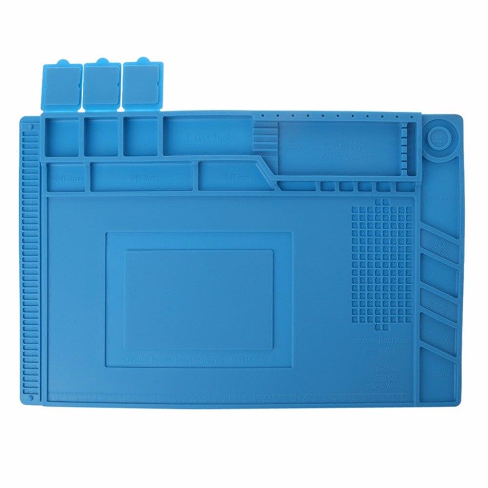 New 45x30cm Heat Insulation Silicone Pad Desk Mat Maintenance Platform For BGA Soldering Repair Station #1A30971#