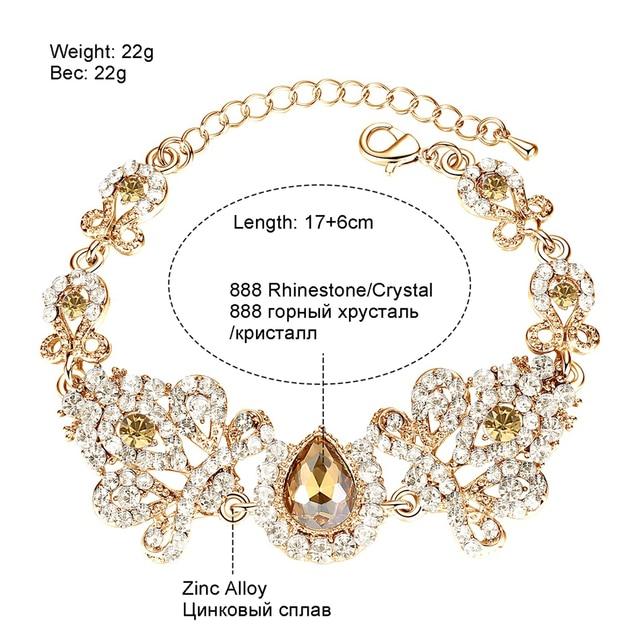 Minmin 2018 Nuova Forma Lampadario di Cristallo Da Sposa Insiemi Dei Monili per Le Donne Orecchini e Bracciale Set Accessorio di Cerimonia Nuziale EH162 + SL037