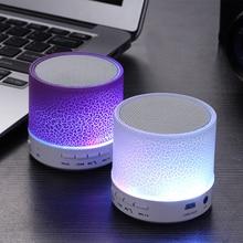 Bluetooth динамик мини беспроводной громкий динамик трещины светодиодный TF USB Сабвуфер bluetooth динамик s mp3 стерео аудио музыкальный плеер