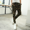 Camo tracksuit military uniform camouflage printng pants men slacks harem sweatpants boys fitted emoji slim green blue m-2xl