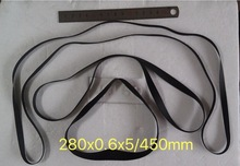 лучшая цена Fold length:450mm Width:5mm thickness:0.6mm Black Glue Phonograph Drive Belt Mechanical Equipment Crafts Flat Belt Recorder