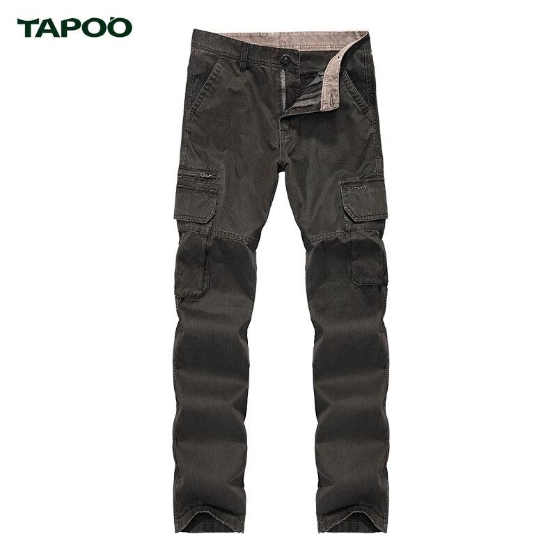 Tapoo брюки для мужчин хлопок комбинезоны брюки марка весна лето новый поступление горячей 3 цветов досуг удобные длинные брюки человек