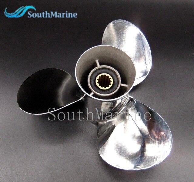 Hélice de aço inoxidável 11 1/8x13 g para popa yamaha 40hp 50hp 11 1/8x13 g