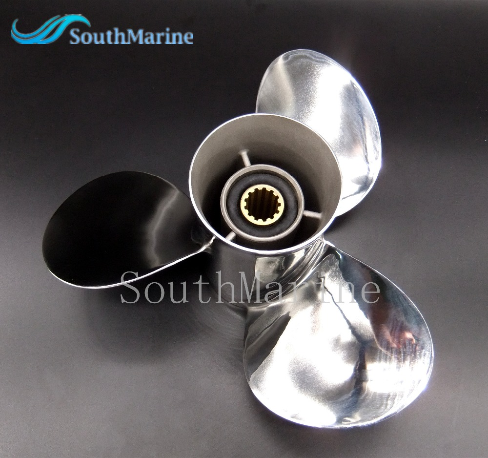 Stainless steel propeller 11 1 8x13 g for mercury tohatsu for 11 1 8 x 13 g yamaha