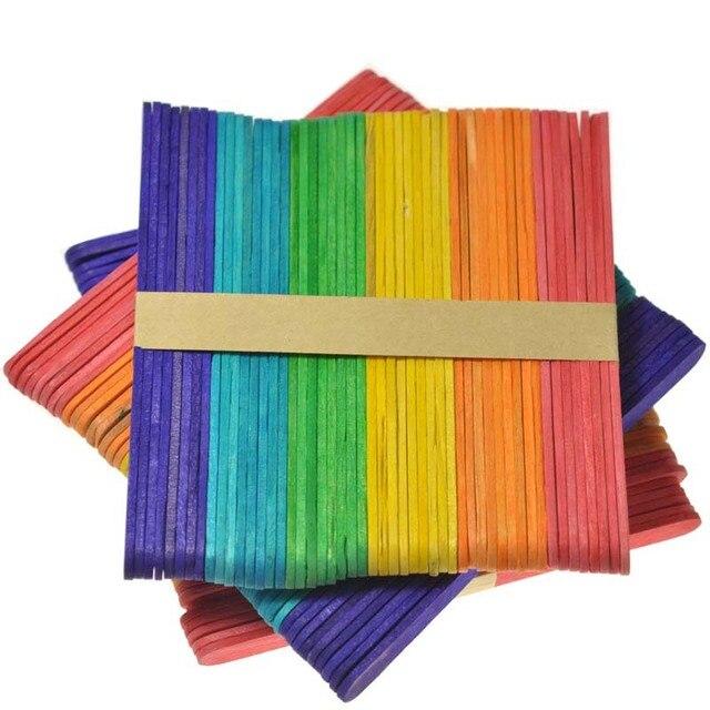 Color Popsicle stick ice cream bar Popsicle sticks children's DIY craft materials preschool educational materials