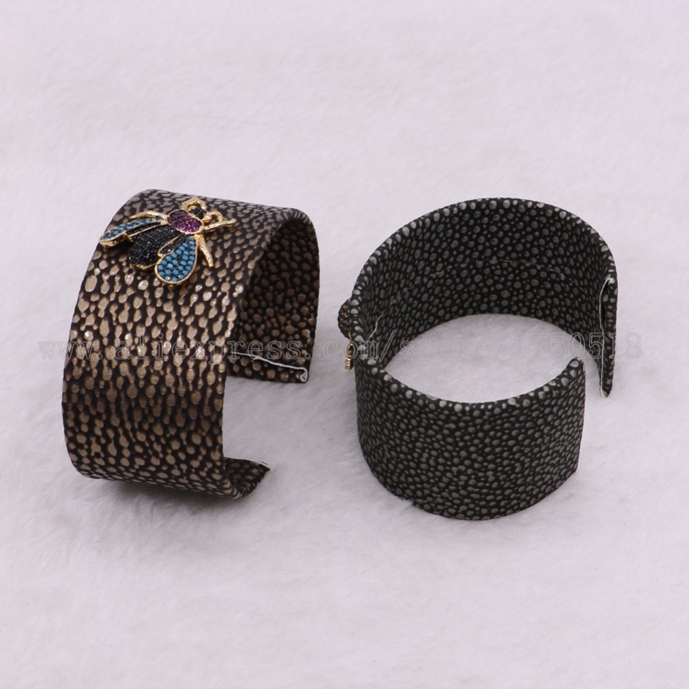 3 pieces bangle cuff bangle bracelet with Cubic Zircon Bees bugs beads mix color beads bangle gems jewelry 2933
