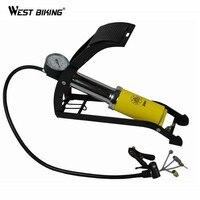 WEST BIKING Bike Single Cylinder Foot Pump High pressure Air Portable Foot Pump Electric Vehicles Bicycle Pump Cycling Bike Pump