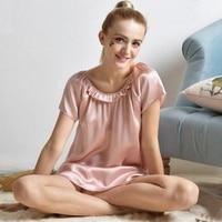 Nightgown Lingerie Fashion Girl Nightdress Women Satin Nightwear Silk Slip Sleepwear Chemises Nightdress Summer Pijamas Night
