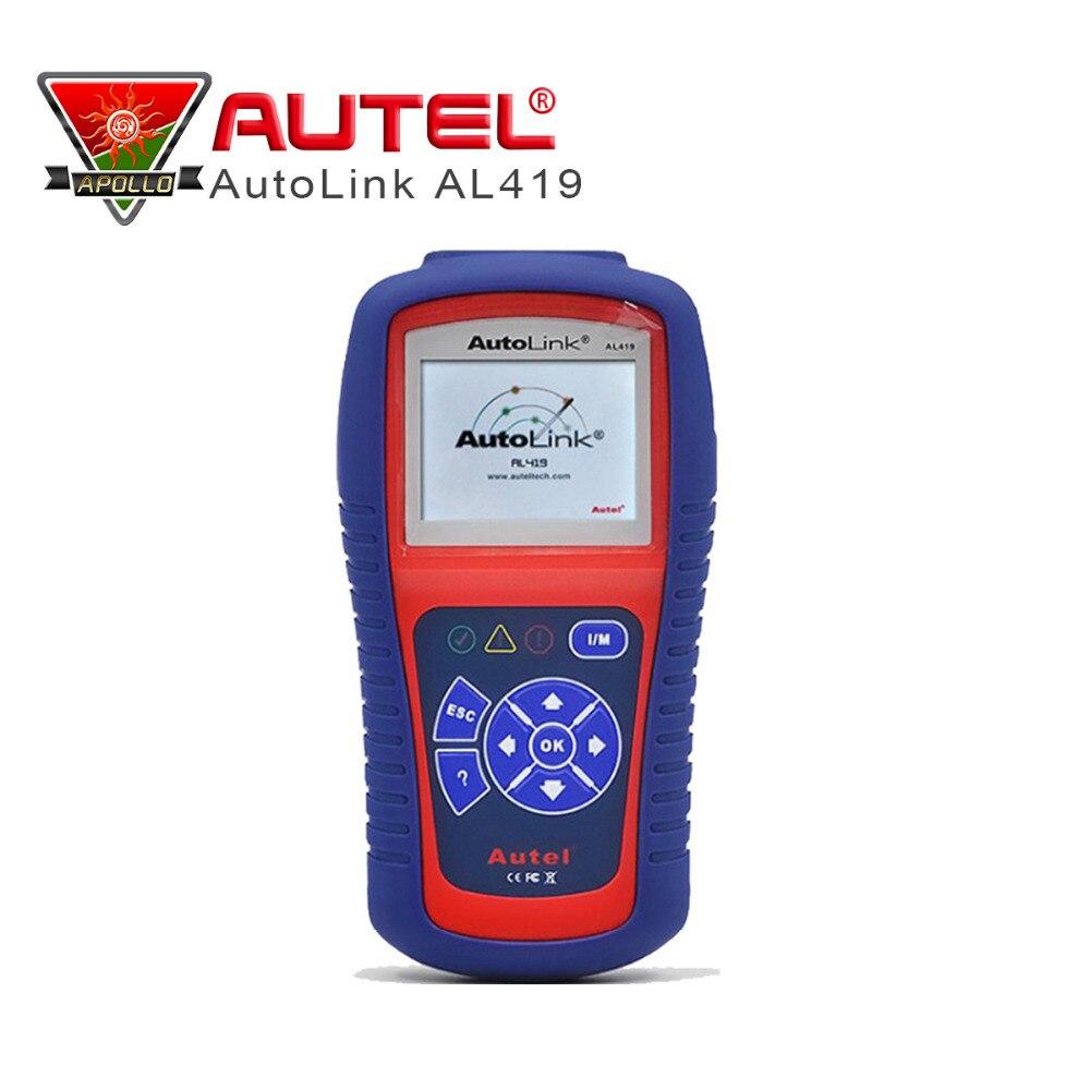 Цена за Оригинал Autel Автоссылка AL419 OBD2 OBD II инструмент диагностики авто может код ошибки чтения сканер советы по устранению неполадок код