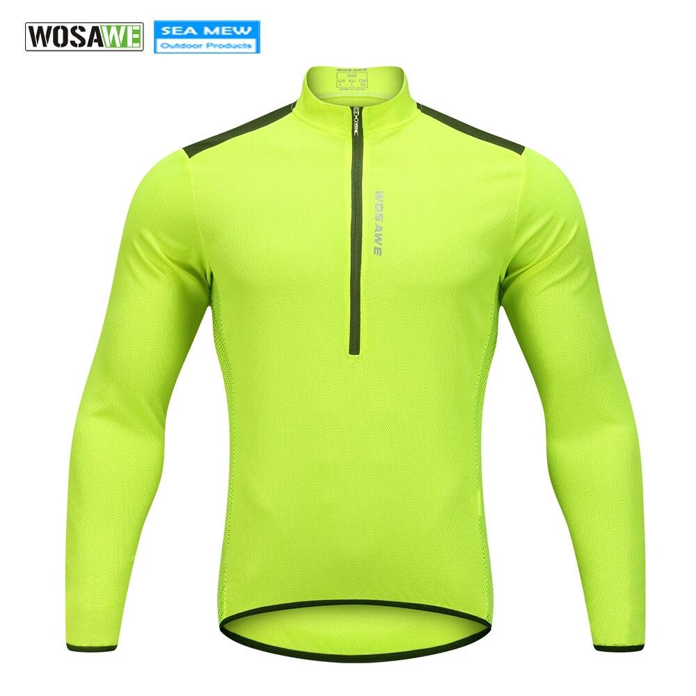 WOSAWE NEUE 2018 Männer Ropa Ciclismo Racing Bike Jersey Radfahren Trikots Fahrrad Langen Ärmeln MTB Shirts Halbe Zipper Zyklus Kleidung