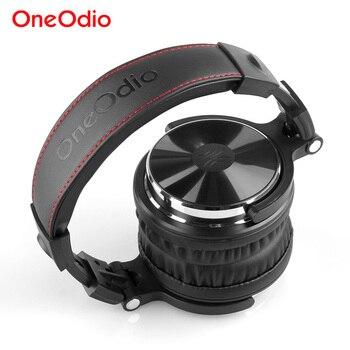 Oneodio 유선 헤드폰 xiaomi professional studio 모니터 용 마이크가있는 hifi 컴퓨터 헤드셋 dj 헤드폰 어댑터 무료