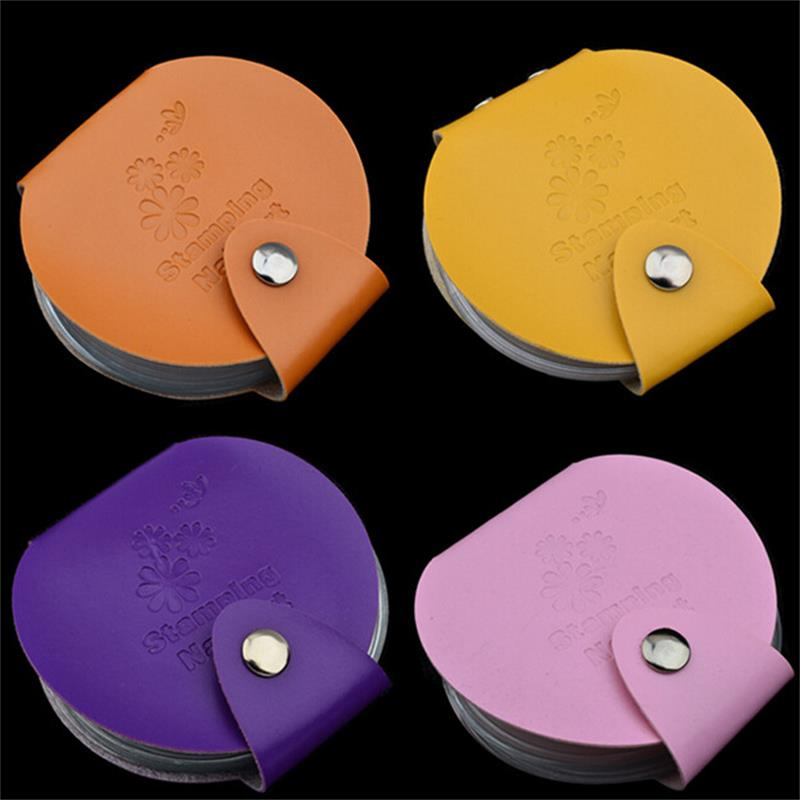 hot sell 24slots Leather Nail Art Stamping Plate Case Bag Folder Nail Stamp Template Holder Album Storage Free Shipping image