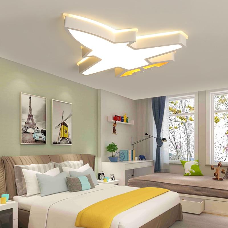 Plane Led Chandelier Light For Girl boy Bedroom Plafond Acrylic Lighting Lamp Modern New Fixture Lampadario Luminaire Lustres|Chandeliers| |  - title=
