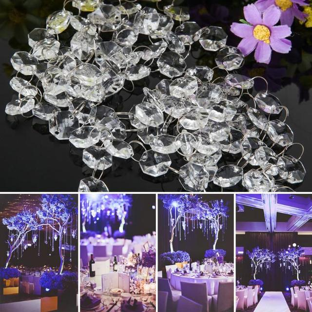 33ft Crystal Clear Acrylic Bead Garland Chandelier Hanging Wedding Decoration Party Supplies Holiday Diy Decorations