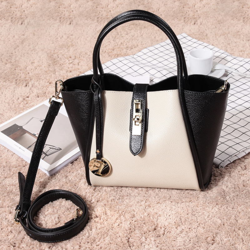 P246 New fashion ladies Handbag shoulder bag Cow Layer Cowhide Genuine Leather Bag Women Totes luxury genuine leather bag fashion brand designer women handbag cowhide leather shoulder composite bag casual totes