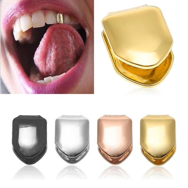 US $2 07 29% OFF|1PC gold teeth grillz Comfort Custom 14k Gold Plated Small  Single Tooth Cap Grillz Hip Hop Teeth Grill Freeshipping 30p1220 on