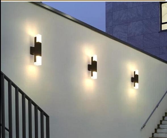 10W LED wall lamp double head up and down Outdoor Waterproof Outdoor Lighting Landscape Garden Park Community Villa Garden Light