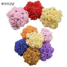 10/20/50Pcs/Lot 4.5cm 15Colors PE Foam Rose Flower Bride Bouquet For Wedding Decorative DIY Wreath Artificial