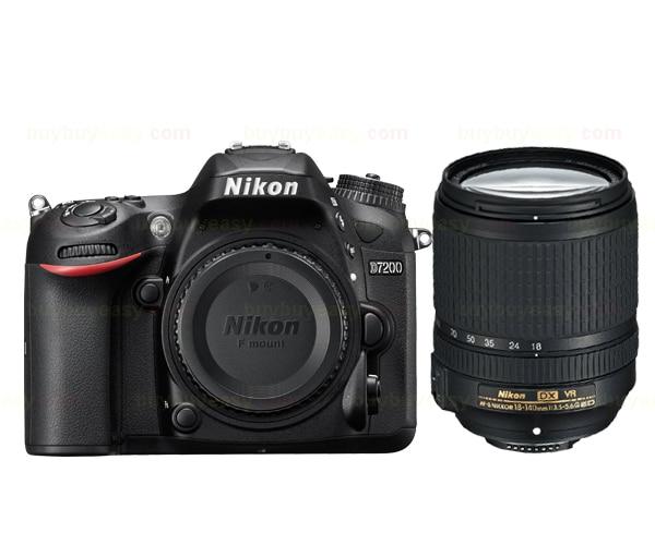 Nuova nikon d7200 fotocamera reflex digitale & af-s dx 18-140mm ed vr lens kit nero