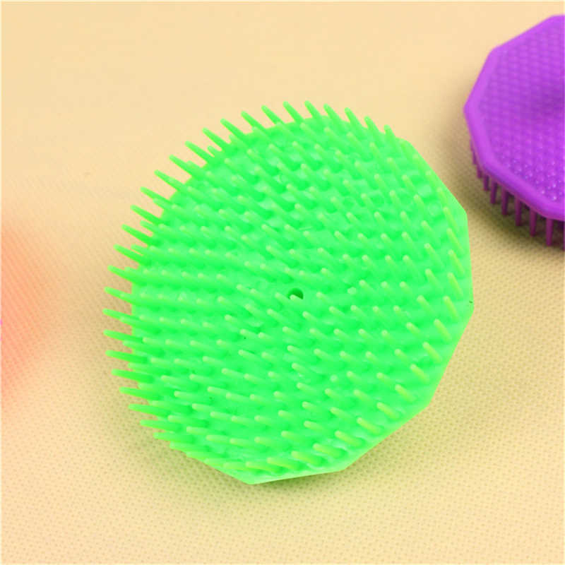 1 Pcs Permen Warna Polygon Rambut Massager Plastik Sampo Sikat Kulit Kepala Pijat Sisir Rambut Sikat Pembersih Exfoliating Perawatan Kesehatan