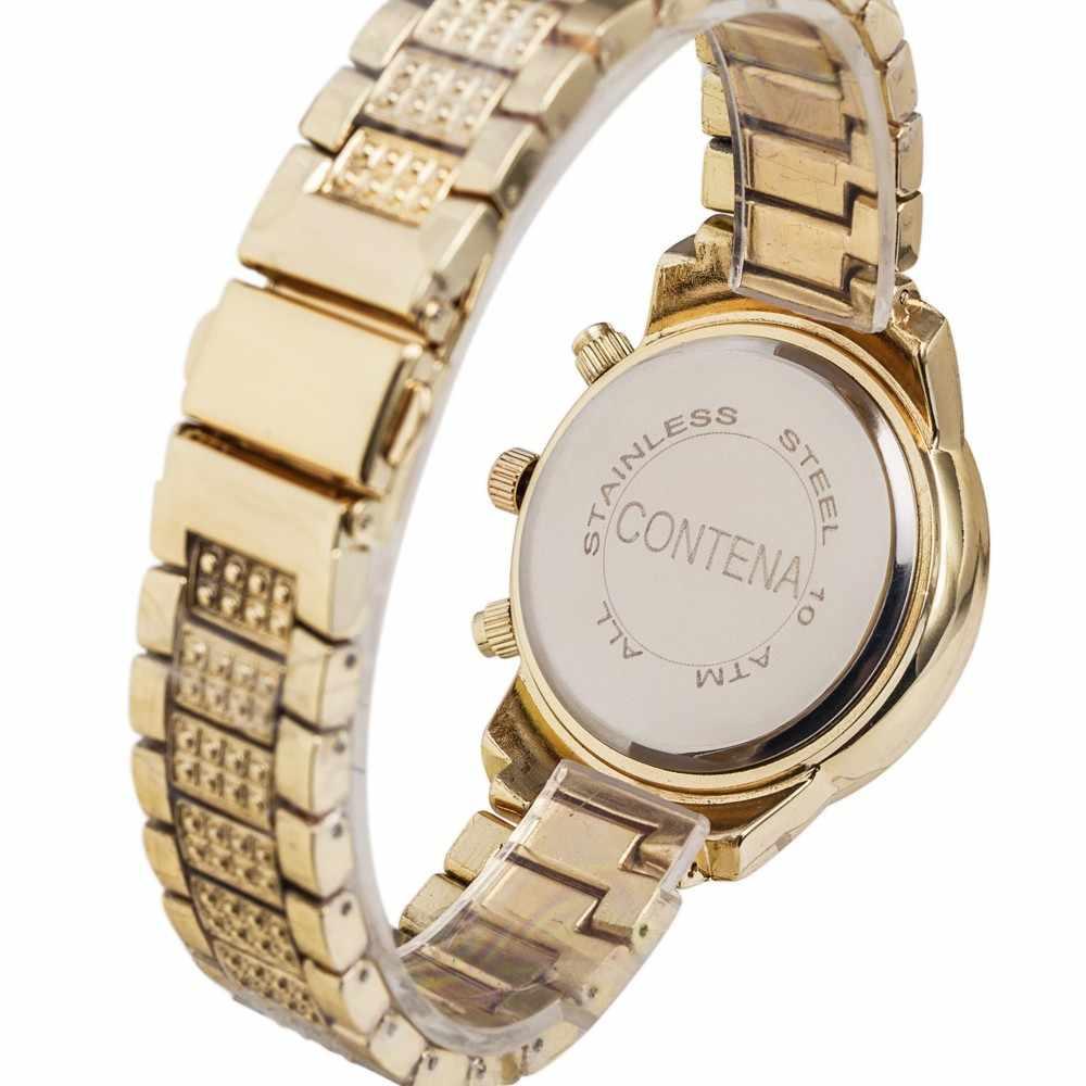 2020 relógio de ouro mulheres marca de luxo nova genebra senhoras quartzo-relógios de pulso de strass de aço inoxidável completa para a menina
