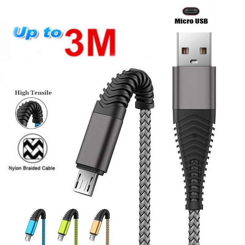 2 x 2m Ladekabel Micro USB Kabel Samsung Galaxy S2 S3 S4 S5 S6 HTC LG Sony Nokia