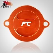цены For Husqvarna FC450 2014-2015 Motorcycle CNC Aluminum Engine Filter Fluid Reservoir Cap Cover Moto Oil Cap Oil Fuel Filter
