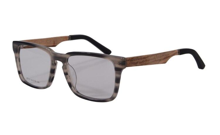 Натуральная деревянная оправа для очков, мужские очки sagawa fujii, очки по рецепту, оправа для очков, полная оправа, оптическая оправа, женские очки ZF111 - Цвет оправы: grey