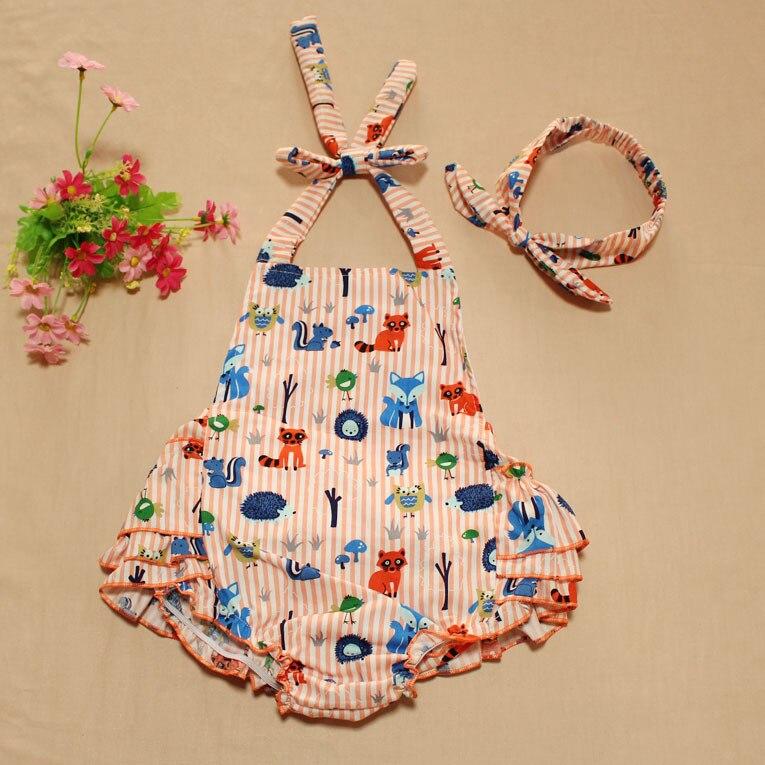 Ruffled baby rompers girl Sunsuit Romper Baby Girls Clothing Set ...