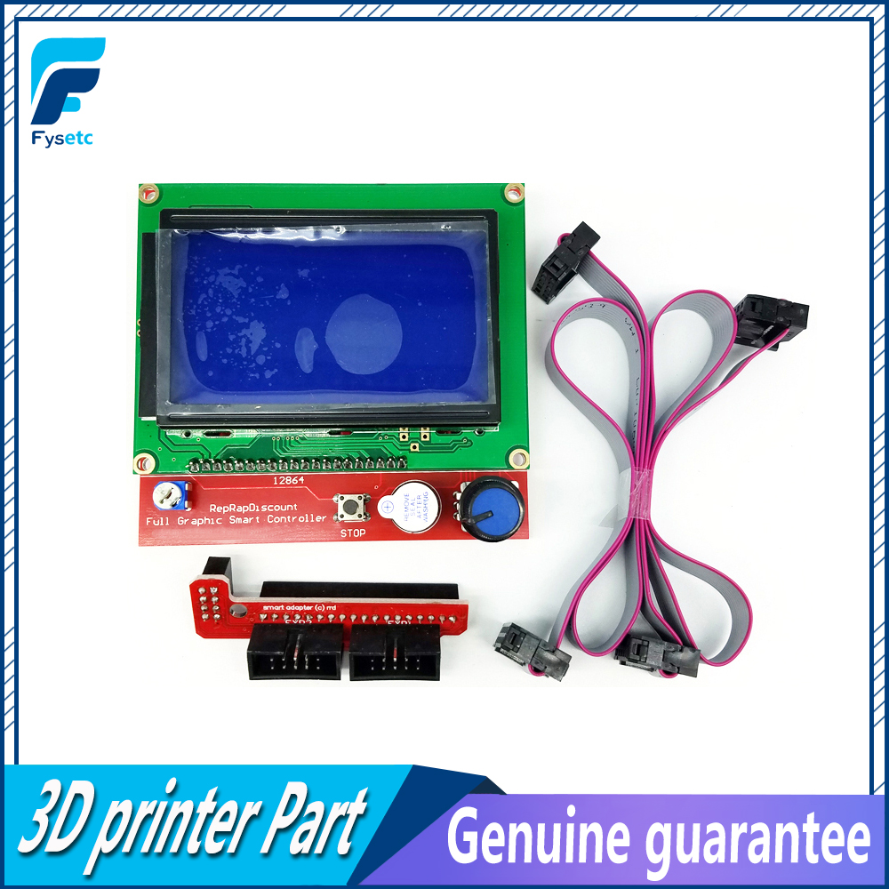 12864 LCD Ramps Parts RAMPS 1.4 Controller Control Panel LCD 12864 Display Monitor Mothe ...
