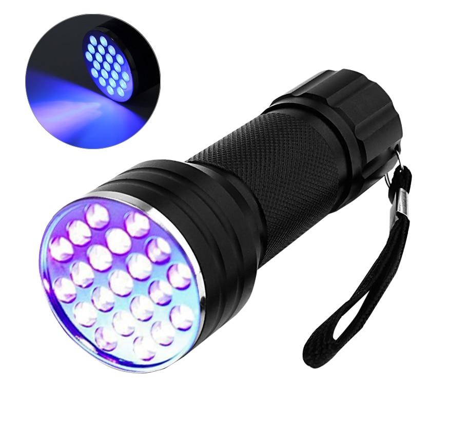 LEDGLE UV Flashlight Handheld LED Torch Light Torch Light Ultra Violet Light Pet Urine Detector AAA Battery Powered 21 LED Beads цена 2017