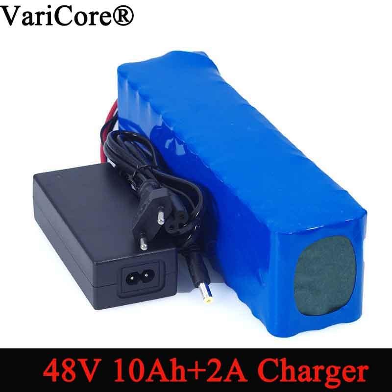 VariCore e bike battery 48v 10ah 18650 li ion battery pack bike conversion kit bafang 1000w + 54.6v Charger-in Battery Packs from Consumer Electronics