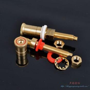 2 uds., placa de cobre puro, chapado en oro, imitación de altavoz WBT, terminal de toma de Audio y vídeo, equipo de Audio y vídeo