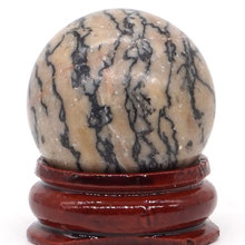 Natural Zebra Jasper Ball Mineral Quartz Sphere Hand Massage Crystal Healing Feng Shui Home Decor Accessory 30mm