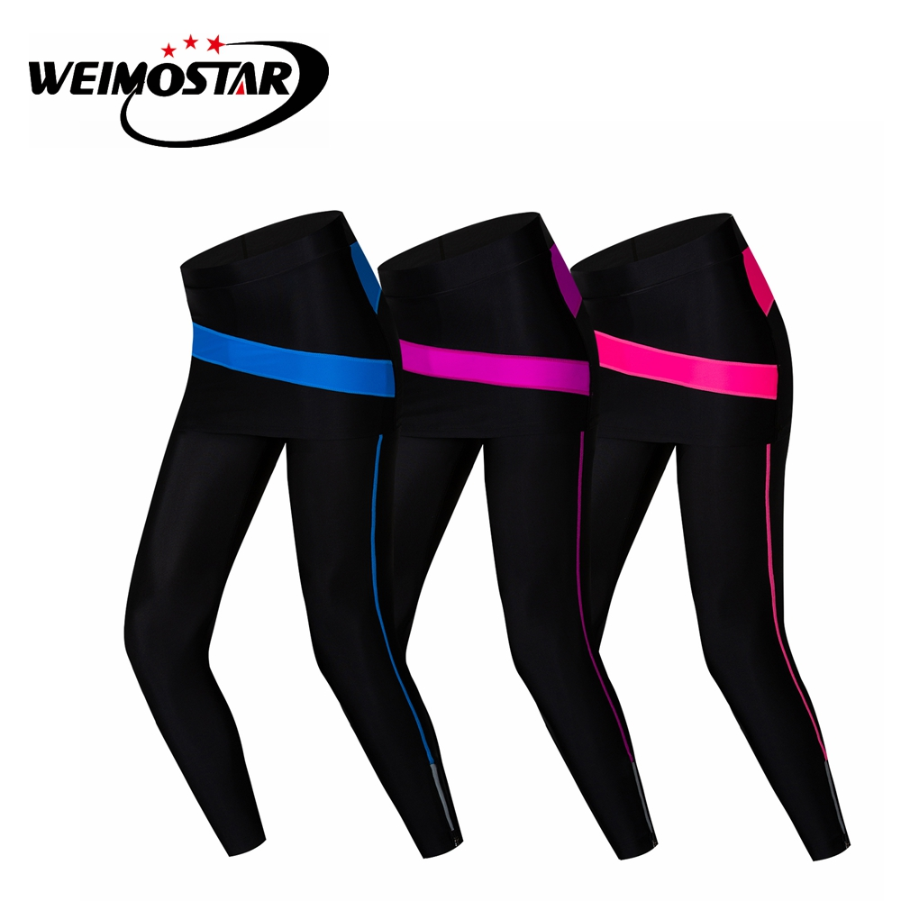 13211c3cda2d4 Women's Compression Cycling Pants Gel Padded MTB Bike Tights Girl's Bicycle  Trousers Riding Skirt Breathable Black Pink Blue