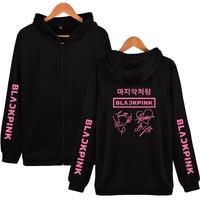 Fashion HIP HOP Blackpink print Hot Sale pop Casual Zipper Hoodies Women and Men Clothes Popular K pops hoodies
