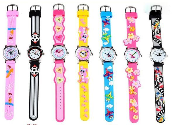 купить waterproof 3D Cartoon plane motorcycle rabbit ballet Design Analog Wrist Watch Children clock / kid Quartz Wrist Watches онлайн