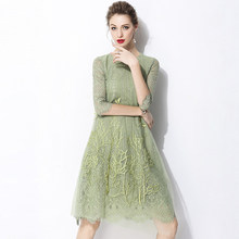 a59386b67fa8e Green Flower Lace Dress Promotion-Shop for Promotional Green Flower ...
