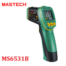 Non-Contact Digital IR Infrared Thermometer -40~800 degree MASTECH MS6531B Laser Temperature Tester Pyrometer Termometro