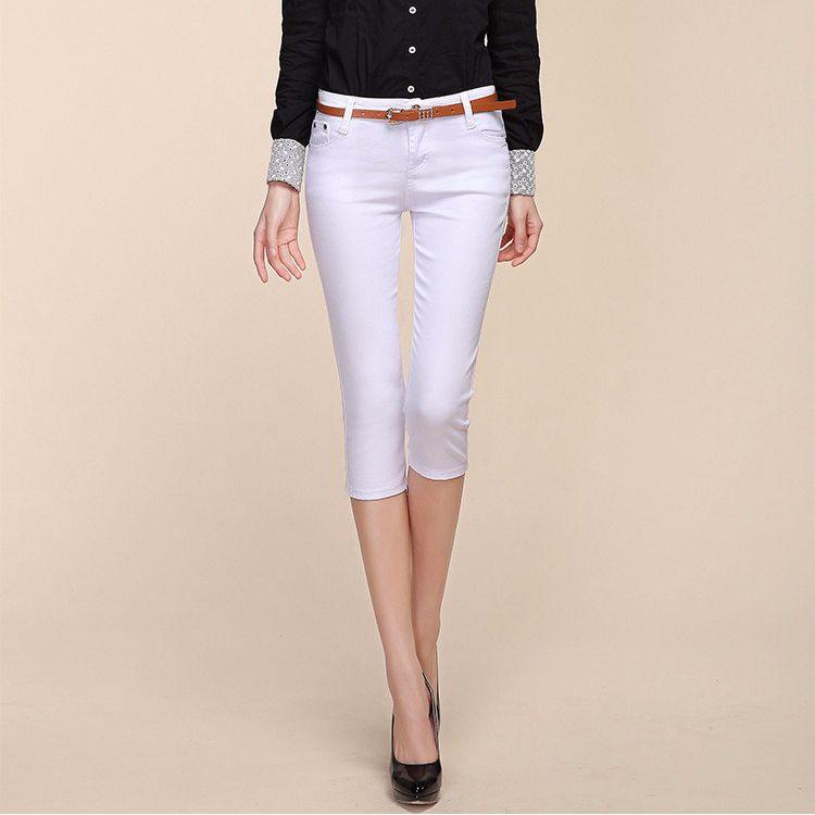 2019   Capris   For Women Plus Size Casual Cotton   Capris   For Women Elastic Candy   Capris   Women   Pants   Trousers