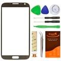 Оригинальный Серый 5.5 дюймов Переднее Стекло Объектива Для Samsung Note2 N7100 Передняя Сенсорный Экран Замена Панель с Бесплатные Инструменты и клей