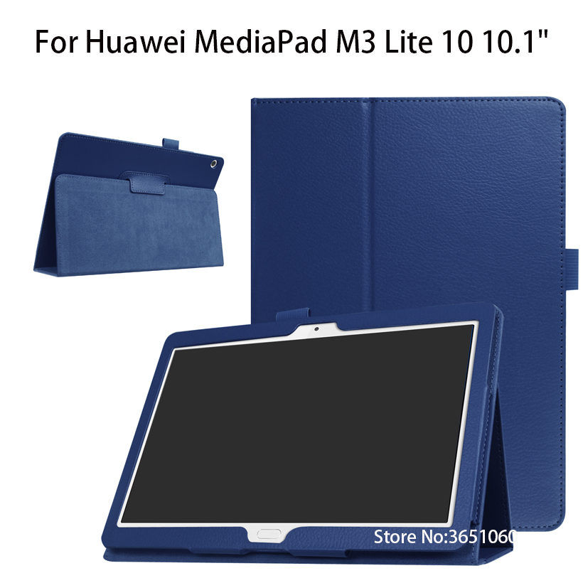 Litchi Stand Leather Case Flip Cover For Huawei MediaPad M3 Lite 10 10.1 BAH-W09 BAH-AL00 BAH-L09 Case Funda tablet shell skin luxury pu leather cover business with card holder case for huawei mediapad m3 lite 10 10 0 bah w09 bah al00 10 1 inch tablet