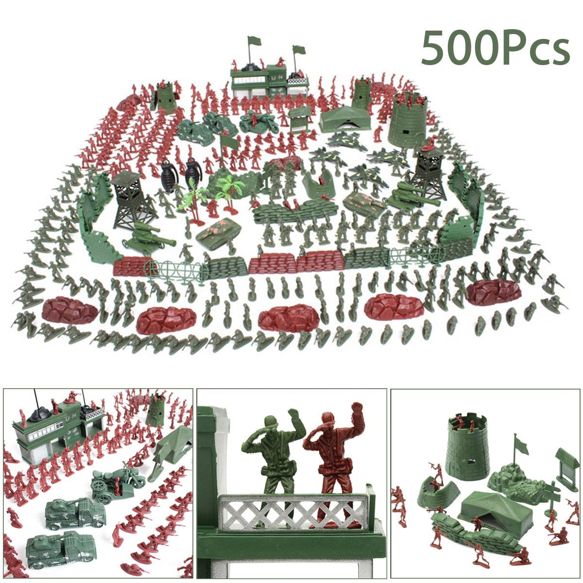 Best Toy And Model Soldiers For Kids : Pcs set military soldier toy kit army men cm figures